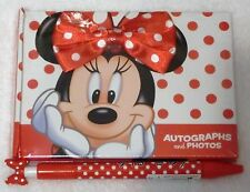 Walt Disney World Resort Minnie Mouse Autograph Book & Matching Pen NEW SEALED