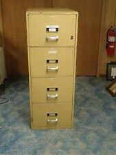 Herring-Hall Marvin Beige 4 Drawer File Fire Proof Cabinet Resistant Safe Office
