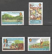 Bateaux Centrafrique (84) série complète de 4 timbres oblitérés