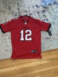 Tom Brady Tampa Bay Buccaneers Men's RED Stitched Jersey On Field REPLICA Large