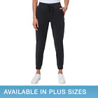 Sweatpants Casual Joggers Fleece Womens Pants Pocket Plain Moisture Wicking Cuff