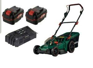 Parkside 40V Cordless Lawnmower PRMA 40-Li A1 + 2x 4Ah Batteries & Dual Charger