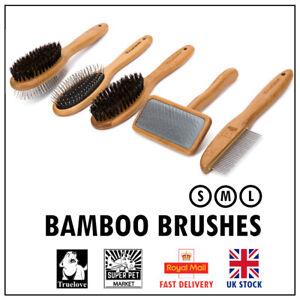Bamboo Grooming Brush Pin Bristle Slicker Comb Double Set Truelove Dog Cat Pet