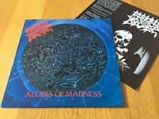 MORBID ANGEL - ALTARS OF MADNESS - 1989 LP WITH INNER SLEEVE NM!! LOOK IN SHOP!!