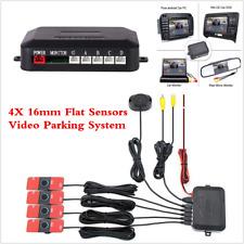4pc 16MM Flat Sensors+Car Video Parking Sensor Reverse Backup Radar Alarm System