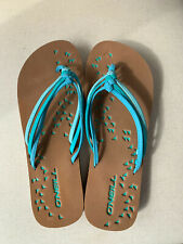 ONEILL LADIES Turquoise FLIP FLOPS – New – Never Worn SIZE 6