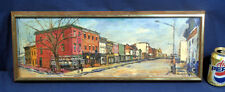 Original Oil Painting on Canvas John Gerachis Georgetown DC 3200 Block M St. NW