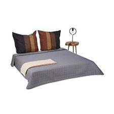 Relaxdays dessus de lit Gris Couvre-lit Matelassé 220 x 240cm Polyester...