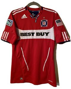 Chicago Fire MLS adidas Jersey Soccer Shirt 2010 Red Sz Men's Medium M