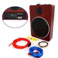 12V 600W Under-Seat Car Subwoofer Speaker Active Stereo Bass Audio Powered Amp