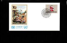 UN, FDC, UNICEF, Sept 23,1983, NEPAL Flag, COV403-12cx