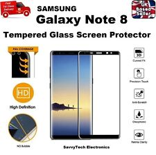 100% GENUINE 3D Curved Tempered Glass Screen Protector for Samsung Note 8 BLACK