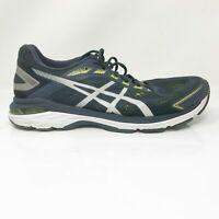 Asics Mens GT 2000 7 1011A158 Black White Running Shoes Lace Up Size 11.5