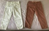 J. Crew Broken In Scout Chino Women's Pants Size 2 City Fit Capri White Red
