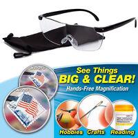 Big&Clear Vision Magnifier Presbyopic Eye Glasses Reading 160% Magnification Len