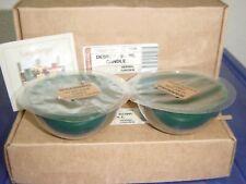 Longaberger Set of 4 Herbal Garden Dessert Bowl Dark Green Candles #71223 - New