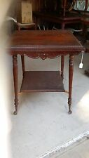 Antique Oak Table, Ball and Claw Foot, Glass Ball