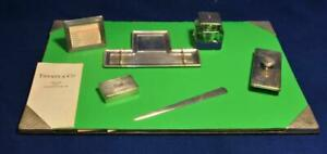 Vintage Authentic Tiffany & Co. Sterling Silver 7 piece Desk Writing set RARE