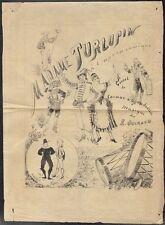 Affiche d'intérieur. Madame Turlupin. Cormon  Grandvallet. Opéra Comique. 1872