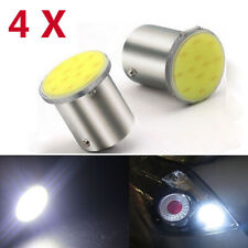 White 1156 BAY15S 12 Chips COB LED Turn Signal Tail Stop Rear Light Bulb Lamp