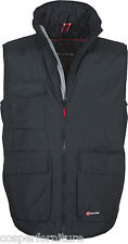 Gilet invernale multitasche Imbottito Payper Wanted Uomo L Nero/ Steel Grey