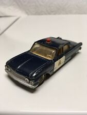 Dinky 264G Ford Fairlane RCMP Patrol Car Blue 1962 Made in England Meccano