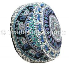 Indian Elephant Mandala Ottoman Pouf Cover Floor Footstool Large Hippie Pouffe