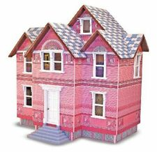 New Melissa & Doug Classic Victorian Wooden Heirloom Dollhouse Pink New In Box