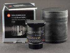 Leica M 28mm 1.4 ASPH. Summilux 6bit schwarz 11668 -NEU- FOTO-GÖRLITZ Ankauf