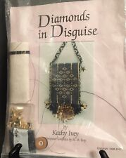 Diamonds in Disguise Beaded Pouch Kit by Kathy Ivey Black Gold Beads Fringe