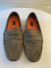 SWIMS Rubber Penny Loafer Driver Men's Color Gray/Gunmetal Size 10