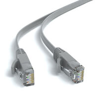 10m CAT 6 Flachkabel Patchkabel Netzwerkkabel Ethernet LAN Kabel - Grau