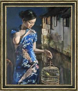 "Hand-painted Original Oil painting art chinese girl on Canvas 30""X40"""