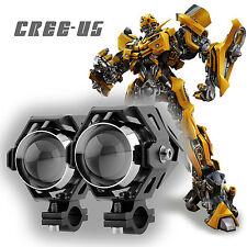 2PCS 125W HIGH POWER CREE U5 LED MOTORCYCLE HEAD LIGHT DRIVING SPOT FOG LAMP