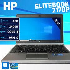 HP EliteBook 2170P Laptop - Win 10 Pro - 240GB SSD - Core i5 - New Battery