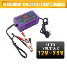 Maso 12 V & 24 V Chargeur de batterie 2 A & 6 A Voiture Van Camion Bateau 4-200AH Affichage LCD UK