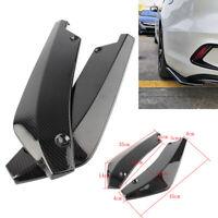 Carbon Fiber Rear Bumper Lip Diffuser Splitter Canard Protector Universal ABS