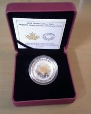 1 oz. Fine Silver Coin – Majestic Maple Leaves With Drusy Stone – Mintage: 4,000