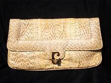 PRISTINE Pierre Cardin Python Snakeskin Clutch Shoulder Bag REALLY NICE