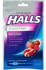Halls Breezers Drops Sugar Free Cool Berry 20 Each (Pack of 3)