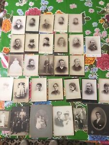 29 1800s Cabinet Cards Etc. Mostly By Hill Hamilton New York & NJ  same family