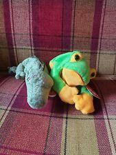 TY Beanie Babies - Crocodile And Frog Set