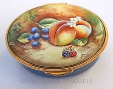 Kingsley Enamels Autumn Fruit Enamel Box