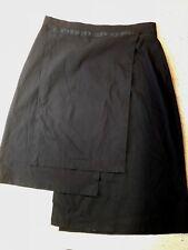 TAKING SHAPE SZ 20 BLACK STRETCHY VISCOSE BLEND MULTI LENGTH PANELLED SKIRT