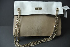 Givenchy Two Tone  Pony Effect Fur Chain Bag NEW