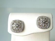 New DIAMOND .40 ct 14kt White Gold Floral Earrings* GAL Appraisal * Gift Box