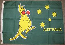 2X3 BOXING KANGAROO FLAG AUSTRALIA DAY BANNER AUSTRALIAN RUGBY OLYMPICS NEW F369