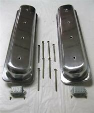 Street Rod Polished Center Bolt Smooth Valve Covers Chevy Aluminum Rocker Covers