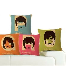 THE BEATLES Cushion Covers! Retro Pop-Art Style perfect gift for any music fan!