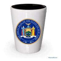 The state seal of New York Shot glass - Gifts for New York People (1)
